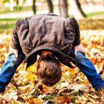 Jump in leaves