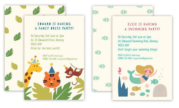 Handmade Children's Party Invitations