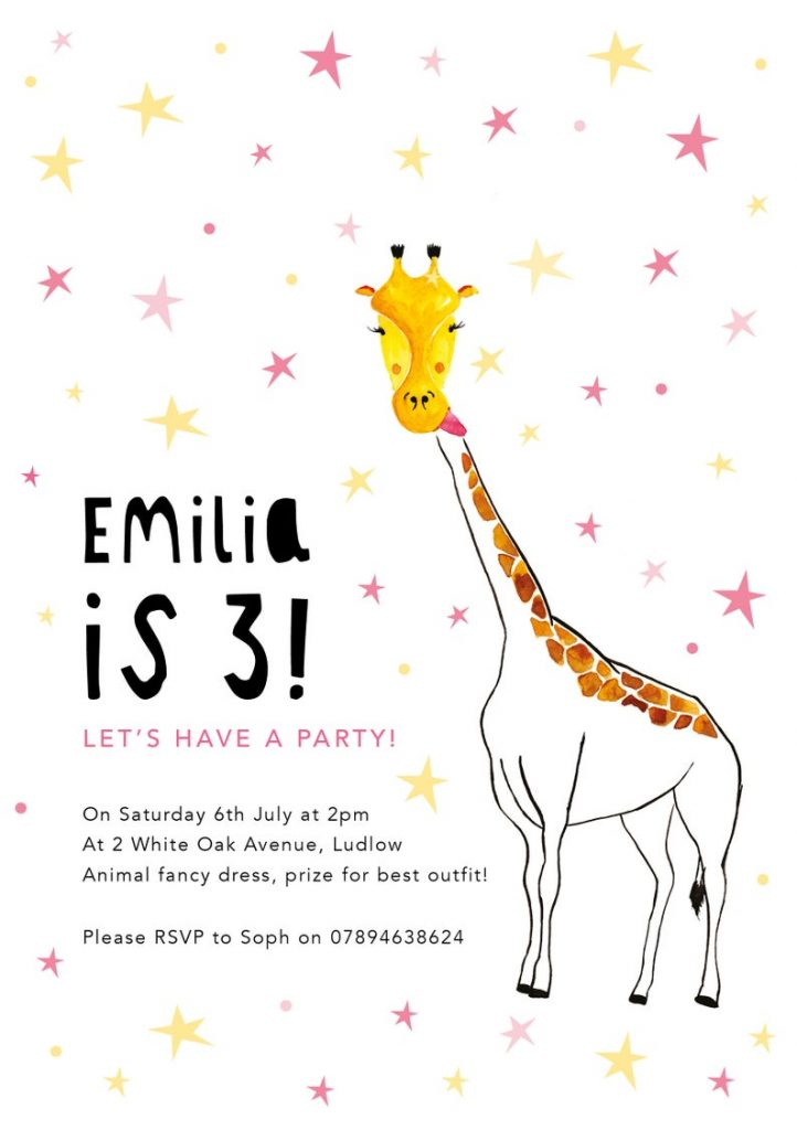 Children party invitations