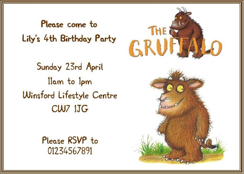 Graffalo pary invitations