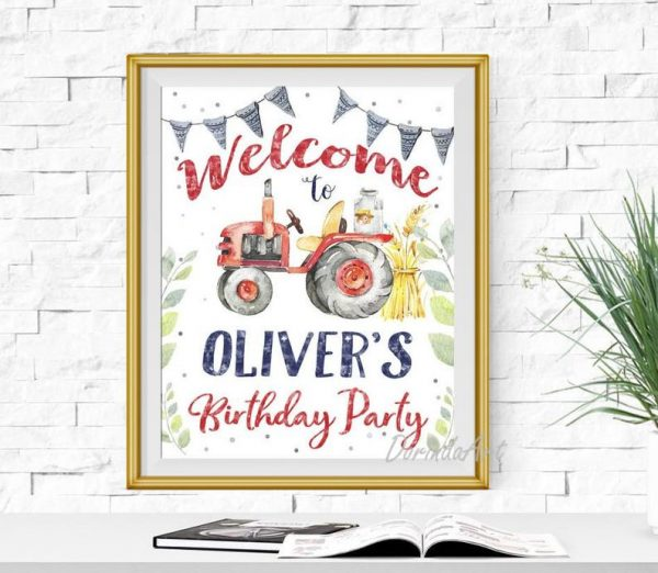 Farm Party Welcome Sign