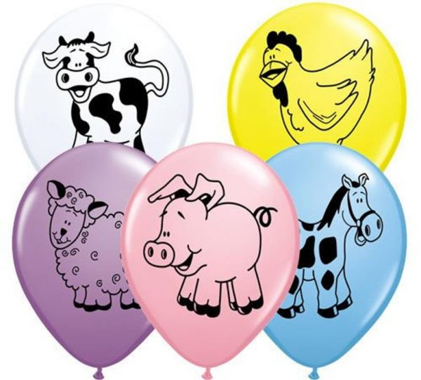 Farm animal balloons