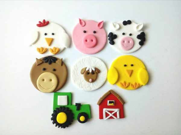 Farm themed cake toppers