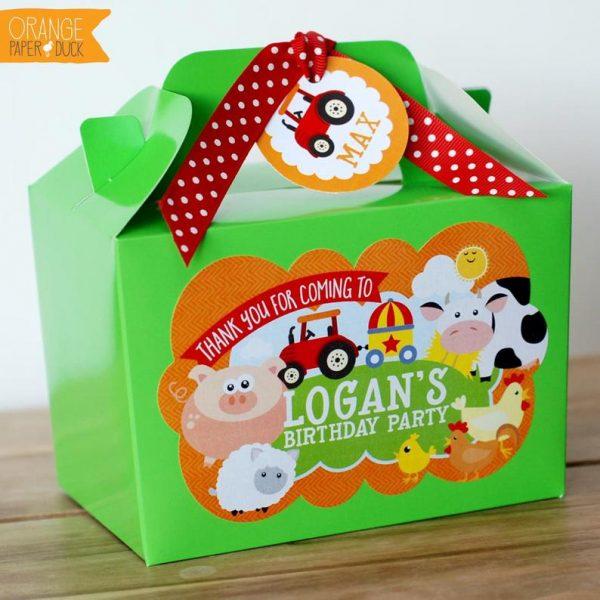 Farm themed party bag