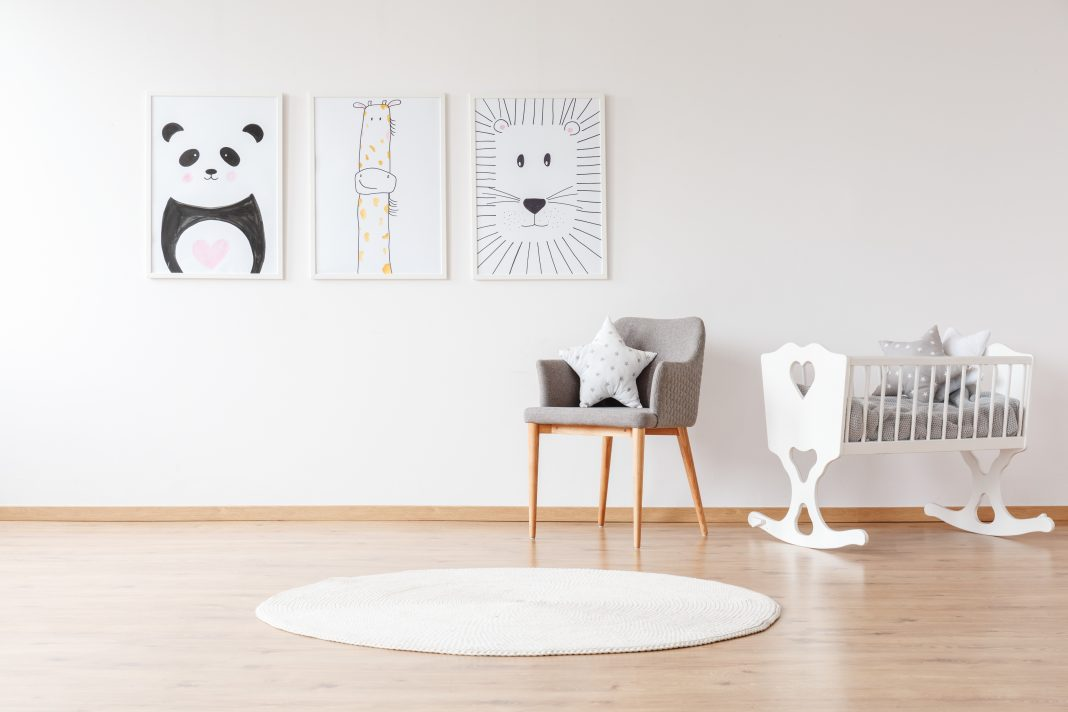 animal prints in child nursery