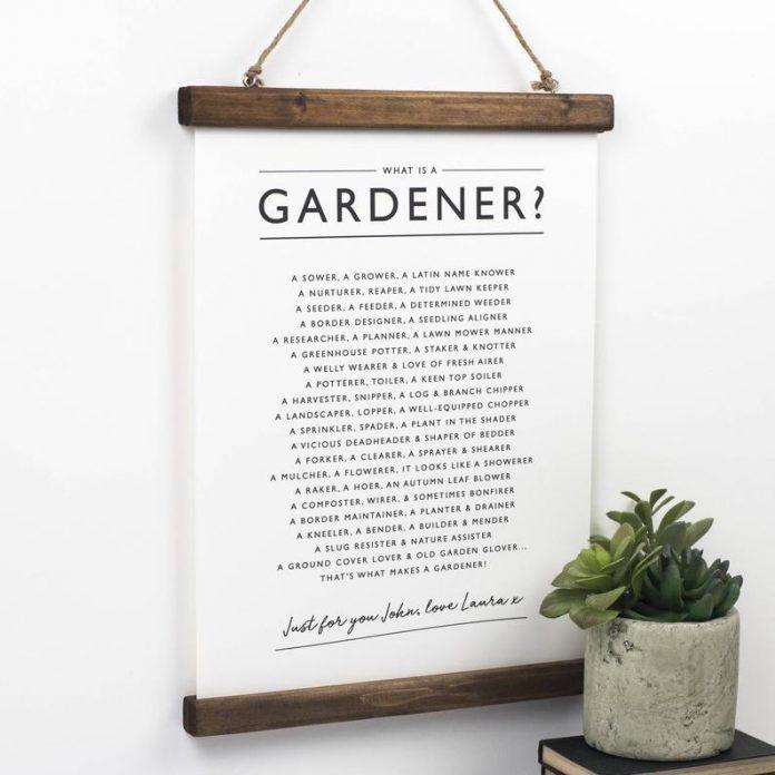 Gardeners Print Poem
