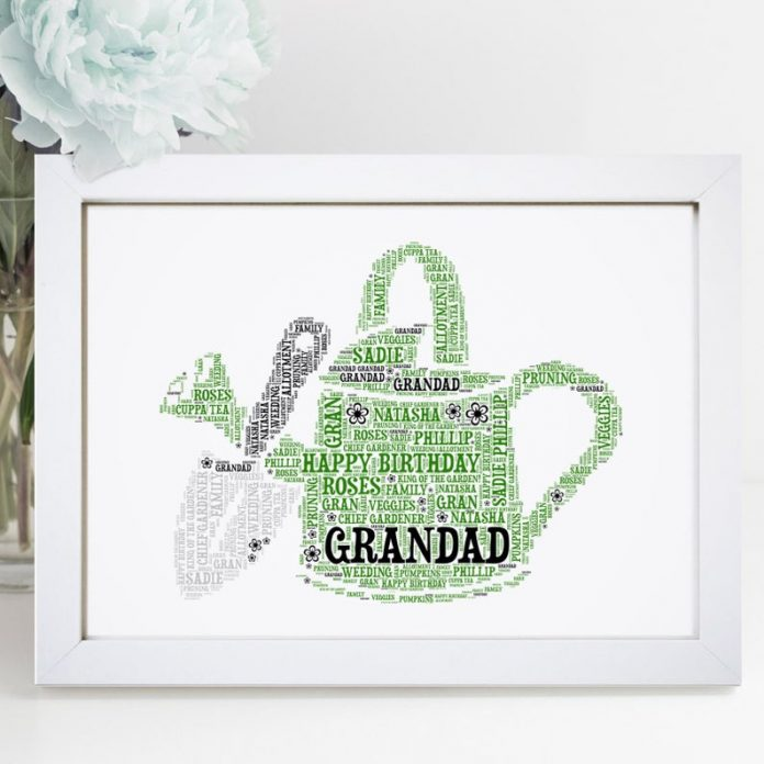 Personalised Watering Can Print